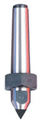 CNC Dead Center With Draw-off Nut Stub Carbide Tipped Point