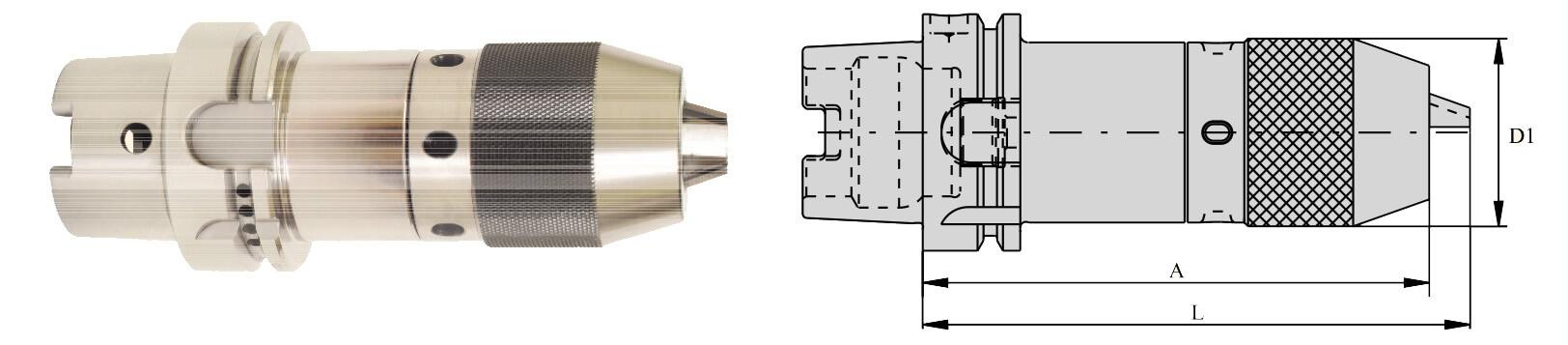HSK100 Integral Drill Chuck (NCDC)