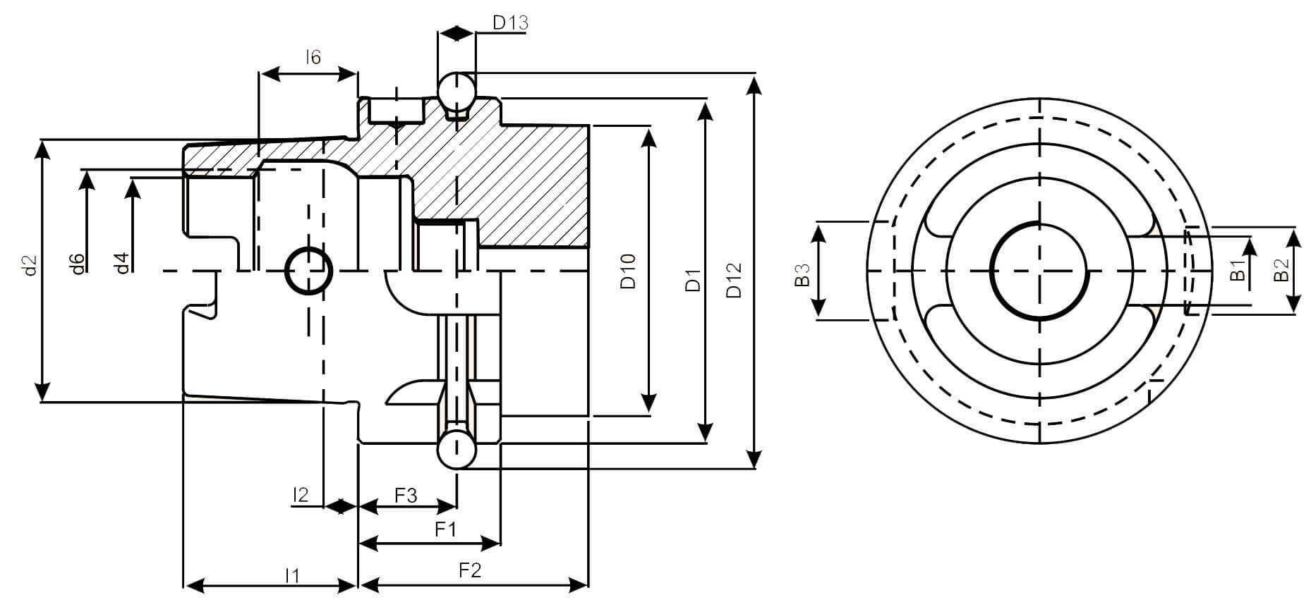 HSK Tool Holders (DIN 69893-1)
