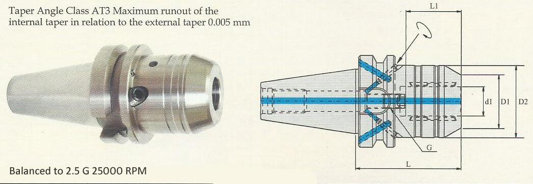BT50 Hydrogrip Chuck(HC)