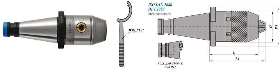 BT30 Integral Drill Chuck