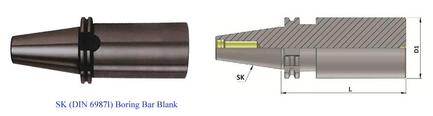 SK50 Boring Bar Blank