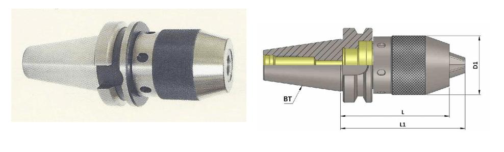 BT40 Integral Drill Chuck (NCDC)